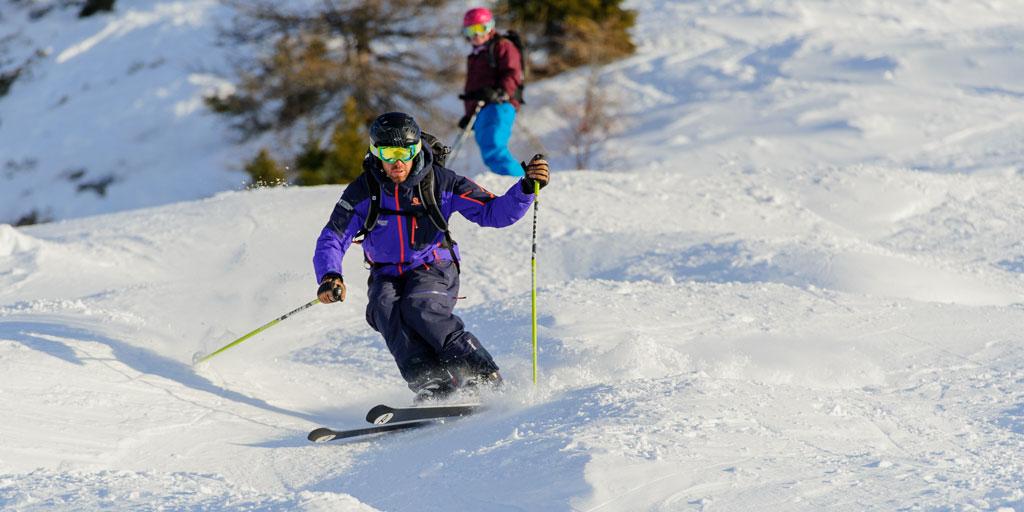 Moguls skiing Verbier